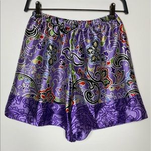 URBAN OUTFITTERS Purple Silk Design Shorts